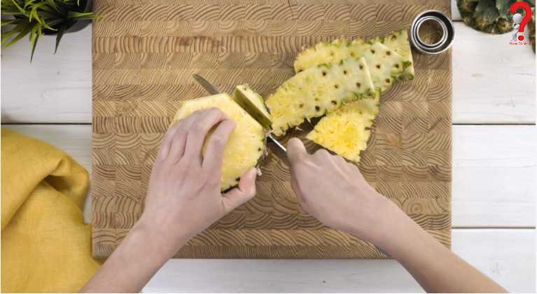 Cut Pineapple Into Rings