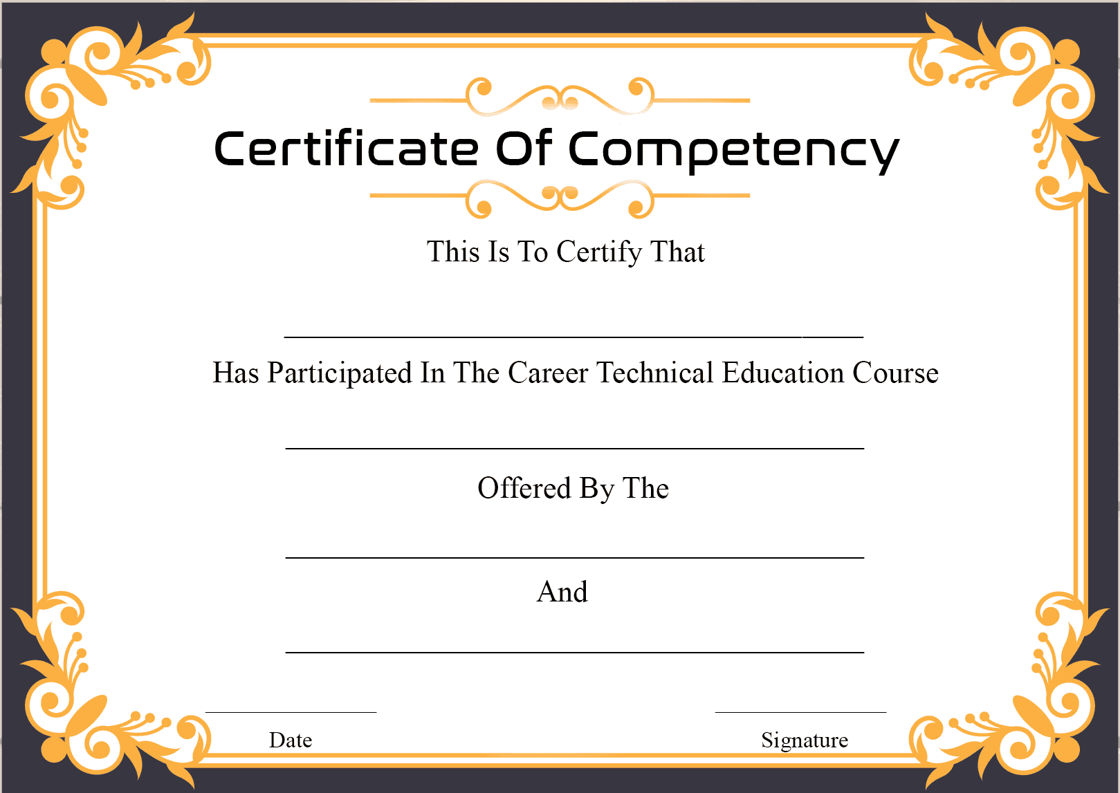 Government Certificate Of Competency
